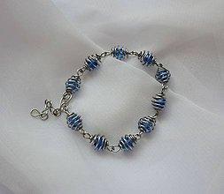 Sady šperkov - Modrá šišková sada - chirurgická oceľ - 9483650_