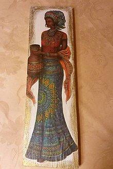 """Obrazy - Drevený obraz - """"Krása africkej ženy"""" - 9482896_"""