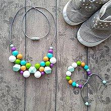 ŽUŽLEME - náhrdelníky ako pomôcka pri dojčení a prerezávaní prvých ... 616626633a9