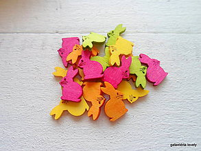 Papier - drevený výrez zajačik - 9480462_