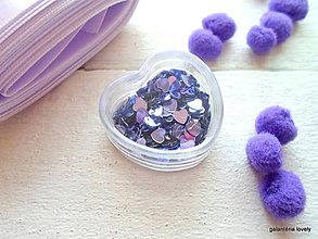 Galantéria - flitre/fialové srdiečka 200ks - 9480709_