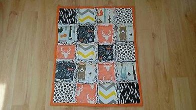 Textil - Detská deka Rag Quilt Oranžová 65x52cm - 9483189_