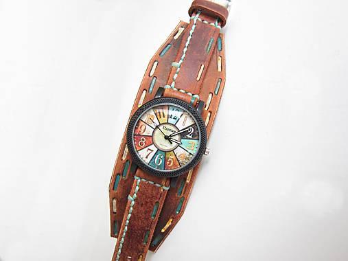 79ed41f43 Dámske hodinky, hnedý kožený remienok / leon - SAShE.sk - Handmade ...
