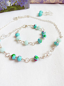 Sady šperkov - Glass/mint - 9480745_