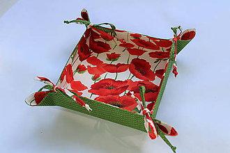 Úžitkový textil - Textilný košíček-vlčie maky.. - 9481965_