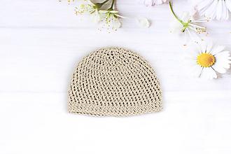 Detské čiapky - Béžová letná čiapka EXTRA FINE - 9481205_