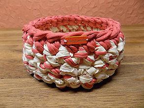 Košíky - košík textilný hačkovaný 09 - 9482950_