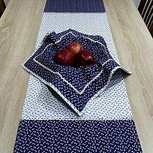 Úžitkový textil - Modrotlač v kuchyni - obrus obdĺžnik 120x36 - 9483143_