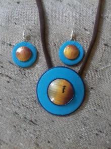 ff507f4479 Sady šperkov - Tyrkysová sada imitácia kameňa tigrie oko - 9482666