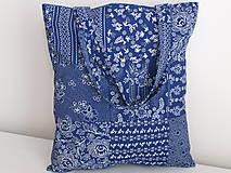 Nákupné tašky - ...vzor modrotlač... - 9480587_