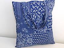 Nákupné tašky - ...vzor modrotlač... - 9480588_