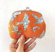 Peňaženky - Peňaženka XL Folk vtáčiky - 9480380_