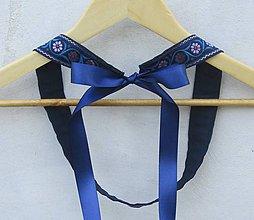 Opasky - Dámsky opasok folk modro-fialový - 9481140_