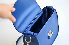 Kabelky - LEA kabelka vyšívaná (modrá) - 9484230_