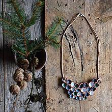 Náhrdelníky - keramický náhrdelník modro-bielo-tyrkysový - 9484854_