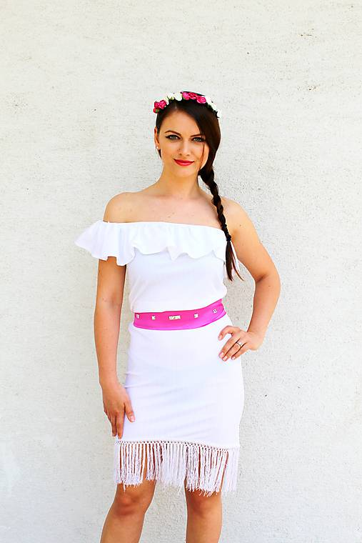 Biele šaty so strapcami - 15 eur   gk - SAShE.sk - Handmade Šaty d5f81bdaf10