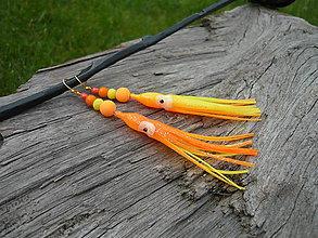 Náušnice - Náušnice Chobotnice NEON pomaranč - 9486375_