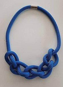 Náhrdelníky - Lano náhrdelník modrý - 9485599_