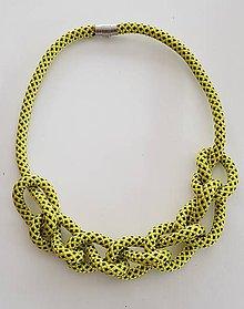 Náhrdelníky - Lano náhrdelník žlta - 9485639_