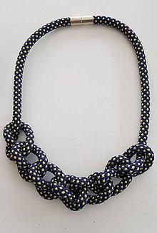 Náhrdelníky - Lano náhrdelník bodka - 9485659_
