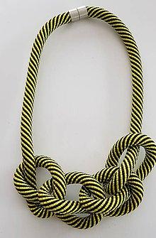Náhrdelníky - Lano náhrdelník hrubý - 9485693_