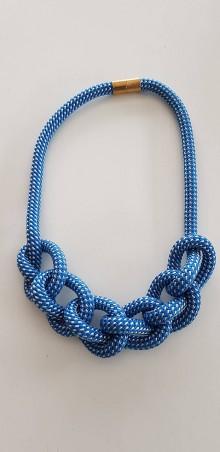 Náhrdelníky - Lano náhrdelník modrý - 9485728_