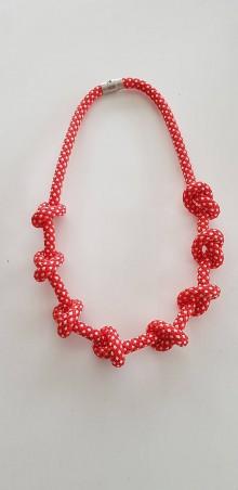 Náhrdelníky - Lano náhrdelník červený - 9485739_