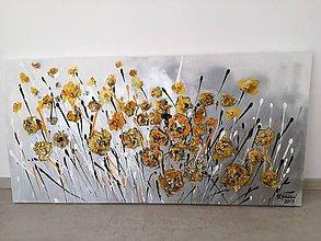 Obrazy - Žlté kvety - 9485920_