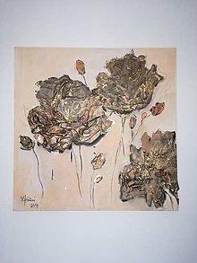 Obrazy - Zlaté ruže - 9485946_