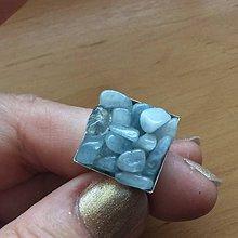 Prstene - prsteň s akvamarínom - 9485446_
