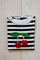 Detské oblečenie - Detské tričko čerešničky - 9484131_