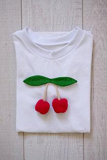 Tričká - Detské tričko čerešničky - 9484154_