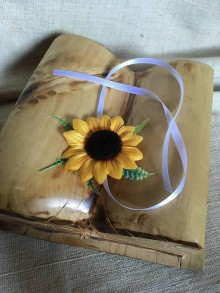 Kytice pre nevestu - svadobný náramok slnečnica pre družičky - 8285620_