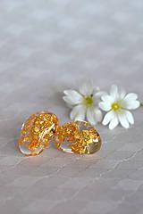 - Náušnice Zlaté kamene (2423 A CHO) - 9486585_