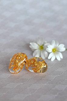 Náušnice - Náušnice Zlaté kamene (2423 A CHO) - 9486585_
