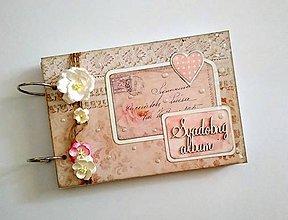 Papiernictvo - Fotoalbum svadobný * kniha hostí * album A5 - 9485582_