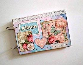 Papiernictvo - Vintage svadobný fotoalbum A5 - 9485770_