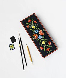 Taštičky - Ručne maľovaný peračník Anna Hindeloopen - 9484183_