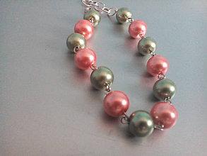 Náramky - náramok perlový na zapínanie - 9485939_