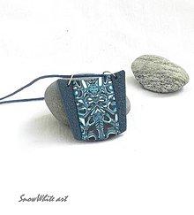 Náhrdelníky - Prívesok modro-tyrkysový - 9484112_