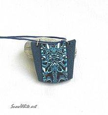Náhrdelníky - Prívesok modro-tyrkysový - 9484115_