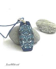 Náhrdelníky - Prívesok modrý šmrncovný - 9484529_