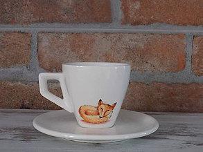 Nádoby - Espresso šálka - Líška - 9485557_