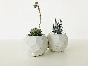 Nádoby - Betónový kvetináč Rhombico (M - šedý) - 9484384_
