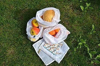 Nákupné tašky - Ekošopka (nákupný set Zerowaste) (Pestrofarebná) - 9484136_