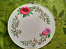 Dekorácie - Kvetinový veniec s vlastným textom - 9484741_