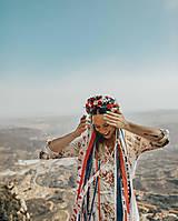 Ozdoby do vlasov - Menšia folklórna parta so stuhami a čipkami - 9484410_