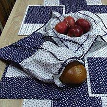 Úžitkový textil - Modrotlač v kuchyni - vrecko na chlieb - 9483856_