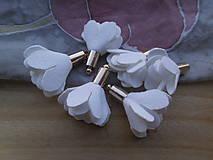 - Textilné kvety - pár (viac druhov) (Biela) - 9484033_