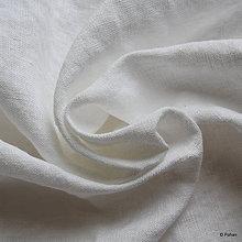 Textil - Ľanové plátno biele - 9487045_